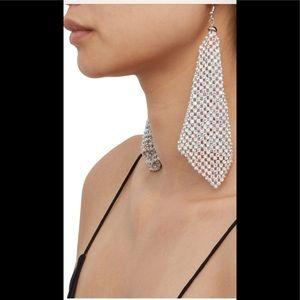 Rhinestone Earrings Brand New